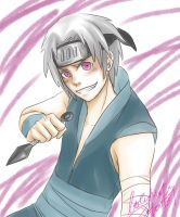 SAI practice - young Hidan by LotusMartus