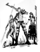 HeroesCon Sketch: BioWare Girls by Shono