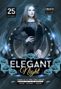 Elegant Night Party Flyer by iorkdesign