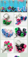 Tentacle Keychains Fanime by KTOctopus
