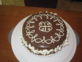 Chocolate Mousse Cake by recycledrapunzel