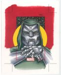 DR. DOOM Sketch Card by Erik-Maell