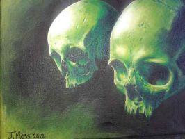 Skull Painting 1 by justin-booda-moss