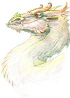 Sketchdump - dragon head by KGBigelow