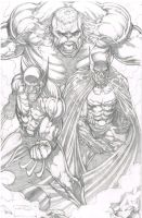 hulk batman wolverine by 1DORIAN1