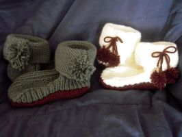 Christmas Slippers - 2012 by elphaba-rose-wilde