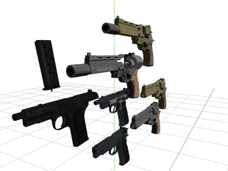 Awesome Pistols + DL by sky-commander