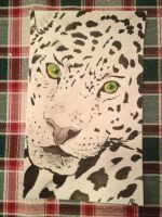 Black and White Leopard by BourneRider