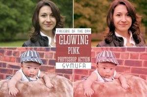 GLOWING PINK PHOTOSHOP ACTION 0011 by symufa