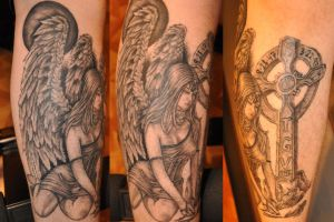 weeping angel tat by boomboom316