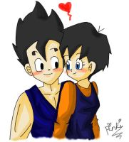 Gohan and Videl by pinkilicious154