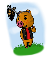 Just out catching bugs - Kevin (animal crossing) by Death-of-all