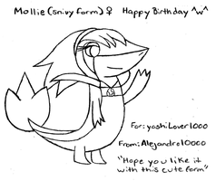 (Early Birthday Gift) Mollie the snivy by Alejandro10000