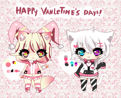RAFFLE - Valentine's day adoptables giveaway CLOSE by Ayuki-Shura-Nyan