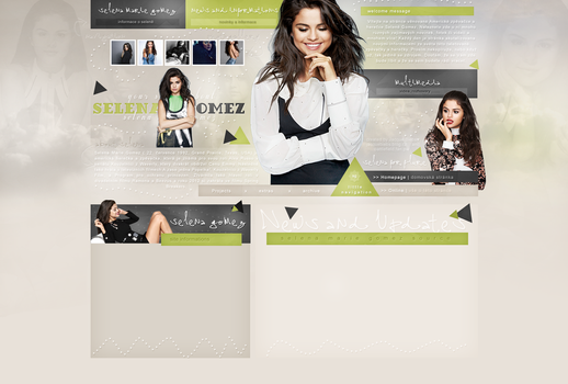 Premade design with Selena Gomez by JacqueBiebs