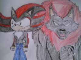 Shadow and his werewolf form by melodiavalentine