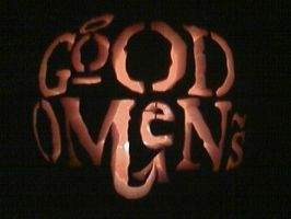 Good Omens Pumpkin by Moki-poki