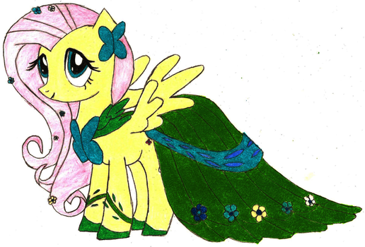 Fluttershy at the Gala by Onagda
