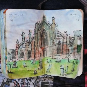 Melrose Abbey by Bohomouse