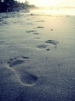 footprints in the sand by camsy-craze