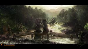 River Bridge Concept by Victor-Lam-art