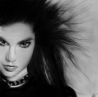 Speed Drawing - Bill Kaulitz by nataliebeth