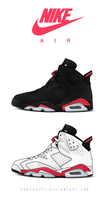 Air Jordan 6 OG 'Infrared' by BBoyKai91