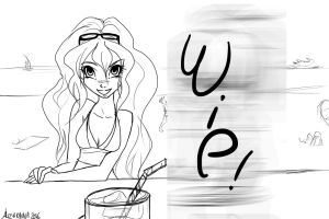 WIP 'Guess !' by Alizarinna