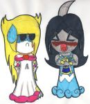 Gift: Allina, Magolor and Saphir by V-P-aurore-star