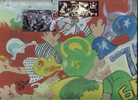 Ice Bowl TD After Picasso, by Mike Pizzolato by MikePizzolato