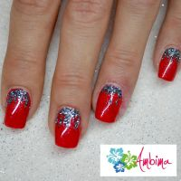 Red winter nails by Ambima