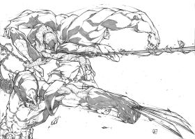 Wolverine Spiderman and Hulk ATTACK by marvelmania