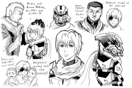 Runa (and a bit of Radec) concept art by gabumon-noodles
