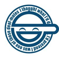 laughing man logo - vector by chippermonky