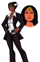 Agent Diana Prince by johnnyharadrim