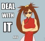 DEAL WITH IT aru by AmadeousFenrir