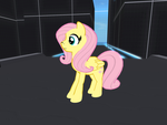 fluttershy in osgrid by knight-rider-2000