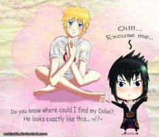 Sasuke is searching his dobe by Uchisuk3