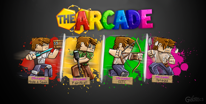 The Hive Arcade - Logo/Wallpaper by FinsGraphics