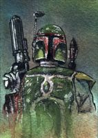 Boba Fett sketch card by geralddedios