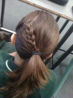 What my friend did in my hair :) by Axel-is-Sexy-K7