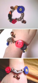 Dr. Who inspired - Steampunk meets Buttons. by Franken-Jewels