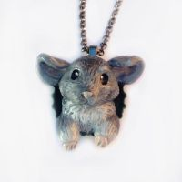 Chinchilla Pop-Out Necklace by LeiliaClay