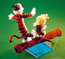 Pipe Cleaner Calvin n Hobbes3 by fuzzymutt