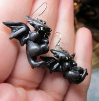 Nightfury earrings by carmendee