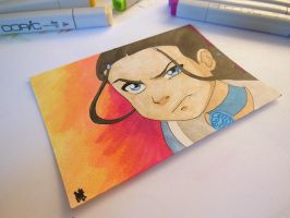 Katara on my desk by reh-kitz
