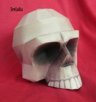 papercraft skull by SewLolita