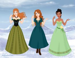 Green Princesses by M-Mannering