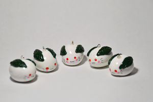 Snow Bunny Charms by stereometric