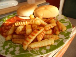 Burgers, Chips and Beans (05.07.13) by Foxy-Poptart